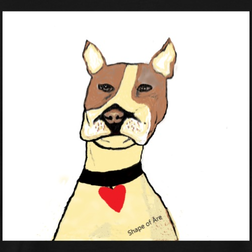 Nu Love dog - Premium-T-shirt herr