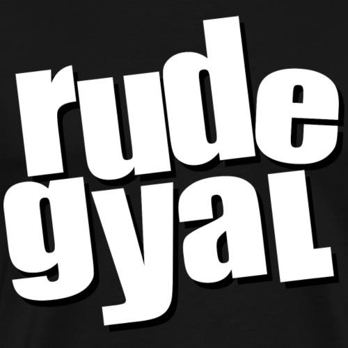 rudegyal label - Men's Premium T-Shirt