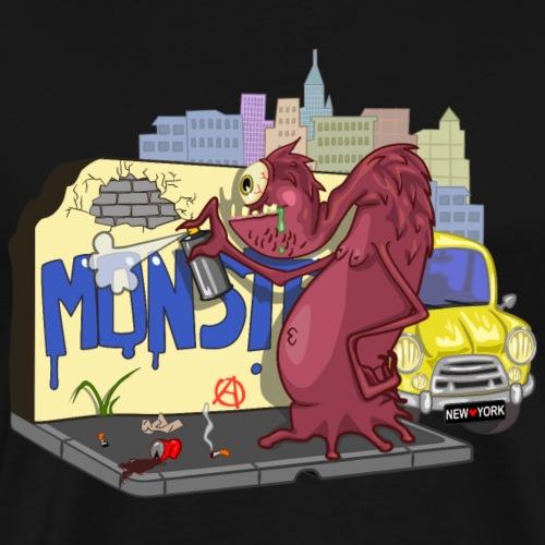 Monster graffity in NY - Men's Premium T-Shirt