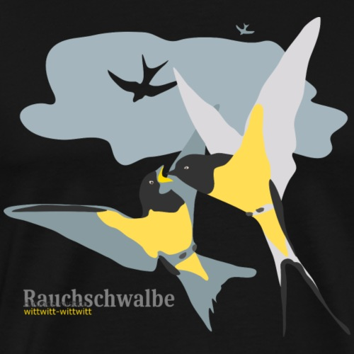 Verliebte Vögel Valentinstag - Männer Premium T-Shirt