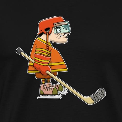 Eishockey Spieler für dunkle Stoffe - Männer Premium T-Shirt