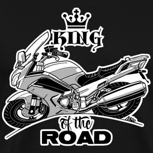 0884 FJR KING of the ROAD - Mannen Premium T-shirt