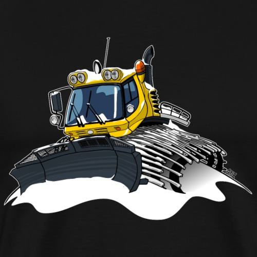 gele sneeuwschuiver sneeuw - Mannen Premium T-shirt