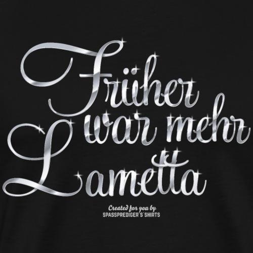 T-Shirt Früher war mehr Lametta Silber - Männer Premium T-Shirt