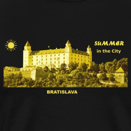 Summer Bratislava City Slowakei Burg Donau Sommer - Männer Premium T-Shirt