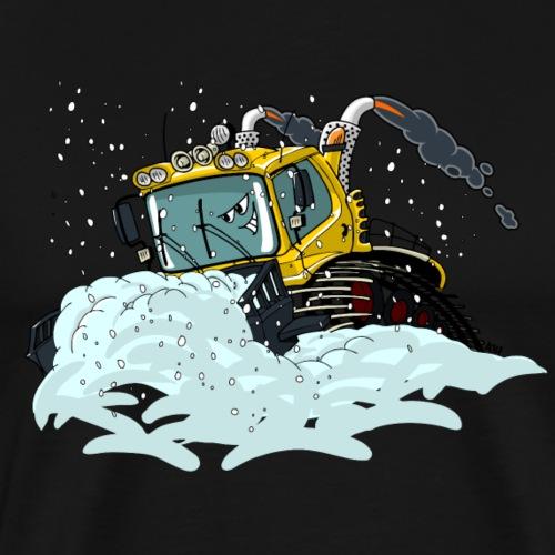 gele sneeuwschuiver - Mannen Premium T-shirt