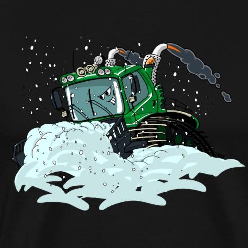 groene sneeuwschuiver - Mannen Premium T-shirt