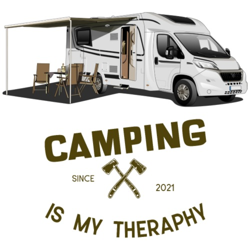 Camping is my Theraphy Wohnmobil teilintegriert - Männer Premium T-Shirt
