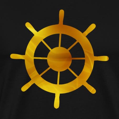 Gouden roer boot - Mannen Premium T-shirt