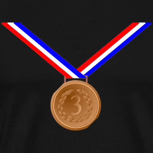 Bronze Medal 3rd - Men's Premium T-Shirt