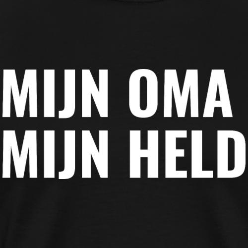 MIJN OMA MIJN HELD - Mannen Premium T-shirt