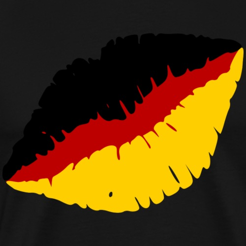 Deutschland Lippen Motiv - Männer Premium T-Shirt