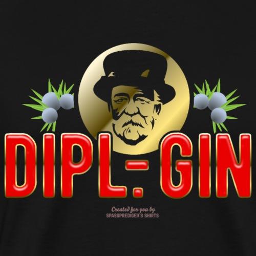 Gin T Shirt Design Dipl.-Gin - Männer Premium T-Shirt