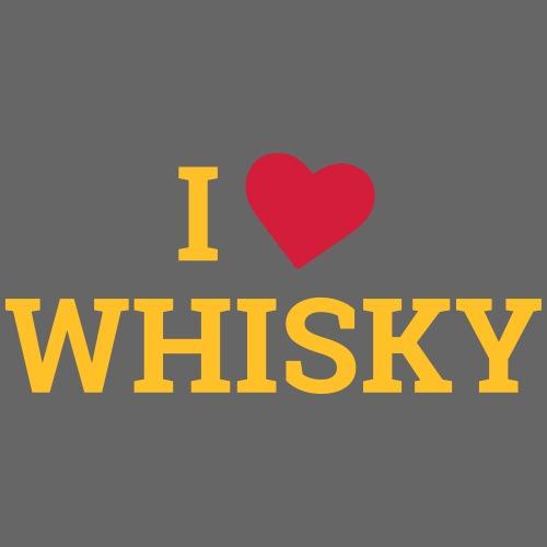 I LOVE WHISKY - Ich liebe Whisky - Männer Premium T-Shirt