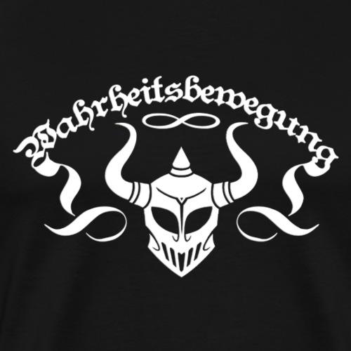 wahrheitsbewegung Weiss Rückseite - Männer Premium T-Shirt
