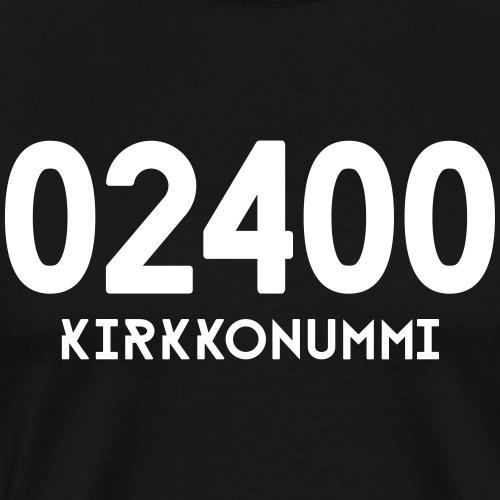 02400 KIRKKONUMMI - Miesten premium t-paita