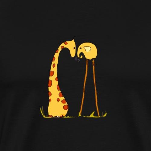 Maglietta San Valentino Tenera | con Animali - Maglietta Premium da uomo