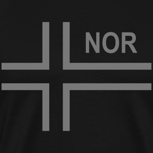 Norwegian Tactical Flag (Neg) Norway - Norge - NOR - Premium-T-shirt herr