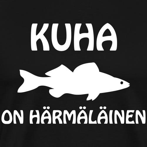 KUHA ON HÄRMÄLÄINEN - Miesten premium t-paita