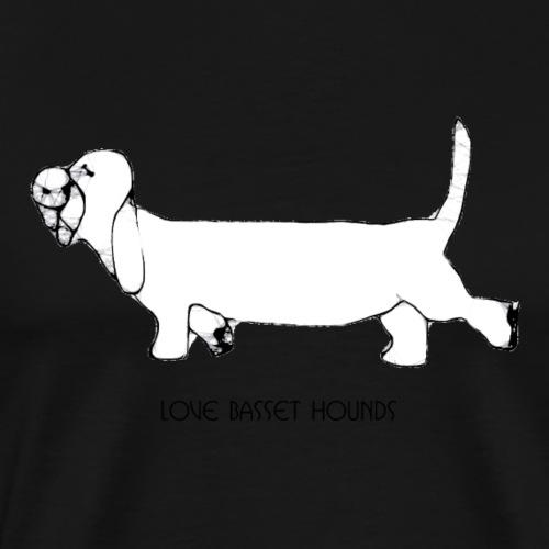 Love basset hounds - Herre premium T-shirt