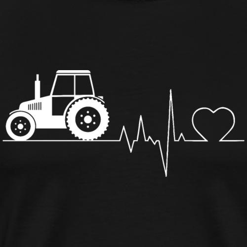 Herzschlag Bauer Traktor Shirt Geschenk - Männer Premium T-Shirt
