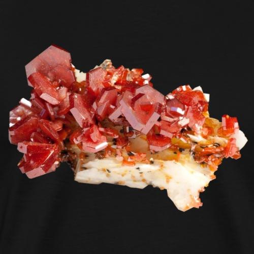 Vanadinit Mineral Kristall rot - Männer Premium T-Shirt