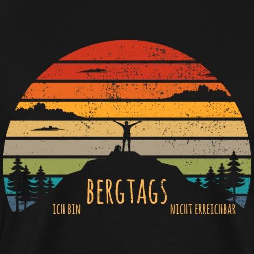lustige Wanderer Sprüche Shirt Geschenk Retro - Männer Premium T-Shirt