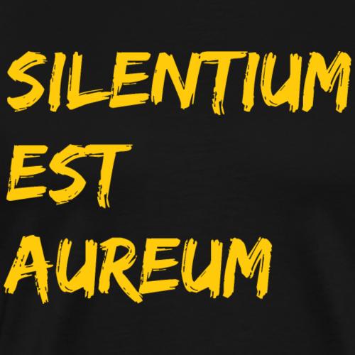Schweigen ist Gold gelb Silentium est Aureum - Männer Premium T-Shirt