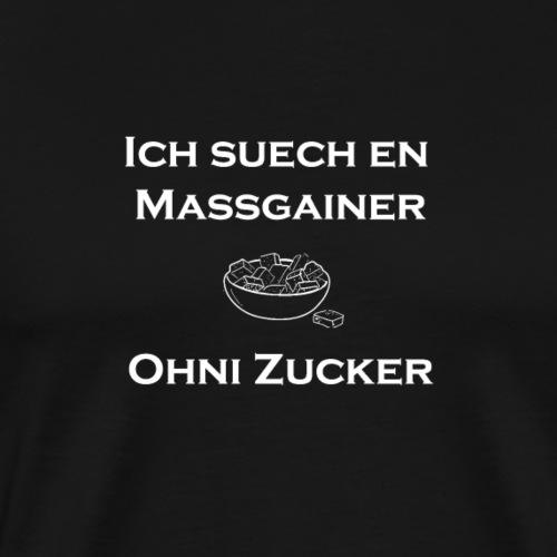 massgainer weiss png - Männer Premium T-Shirt