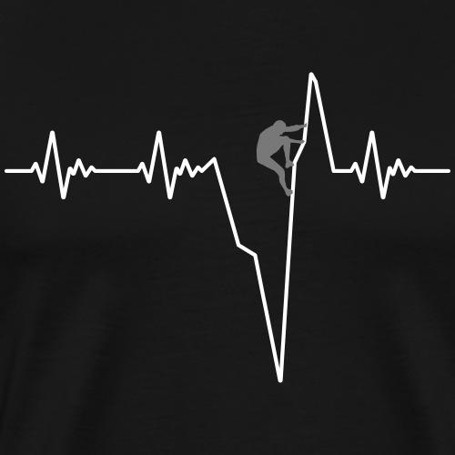 Heartbeat climb ECG - Klettern - Männer Premium T-Shirt