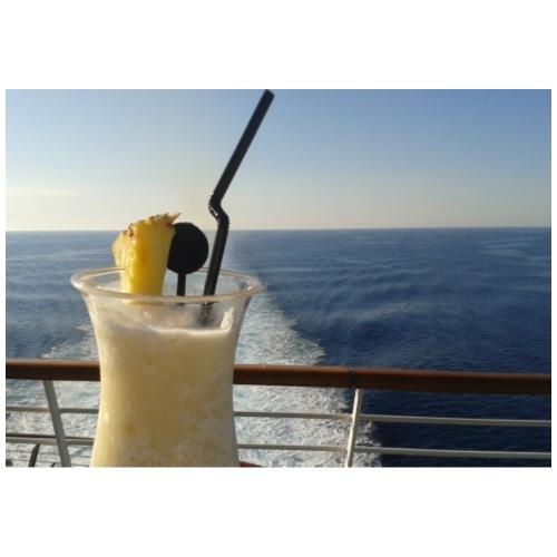 Cocktail Kreuzfahrt Meer Foto Schiff Ananas - Männer Premium T-Shirt
