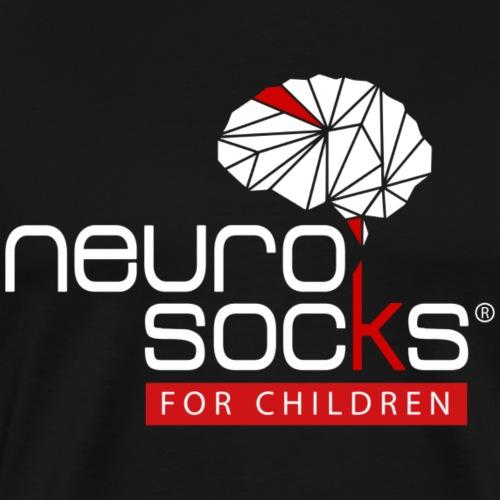 NeuroSocks for Children | Weiß-Rot - Männer Premium T-Shirt