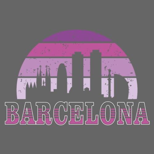 Skyline Barcelona - Camiseta premium hombre