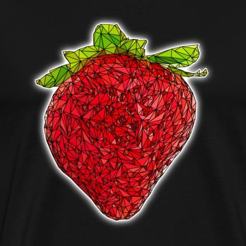 Erdebeere, polygon art, dreiecke - Männer Premium T-Shirt