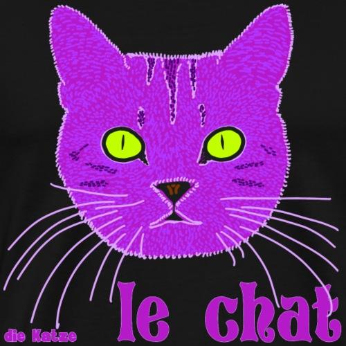 Katze/ Katzenkopf auf Französisch - Männer Premium T-Shirt