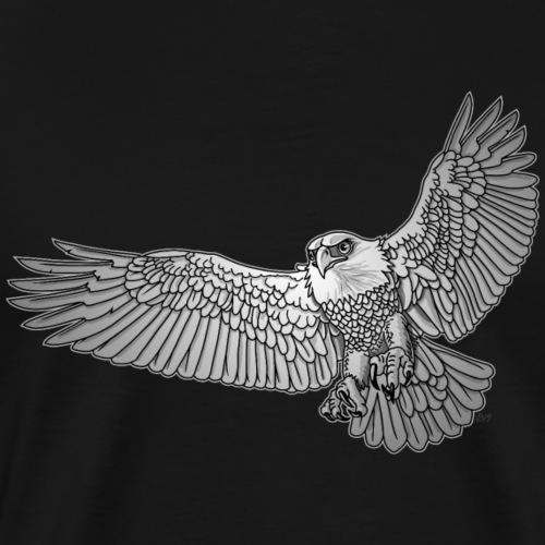 BaldEagle gray scale - Mannen Premium T-shirt
