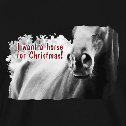 Ein Island Pferd zu Weihnachten Geschenk Englisch - Männer Premium T-Shirt