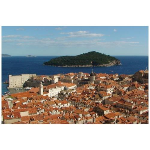 Dubrovnik + Lokrum - Kroatien - Männer Premium T-Shirt