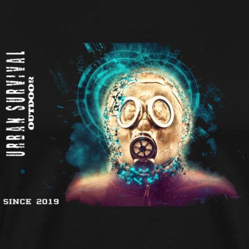 mask white - Männer Premium T-Shirt