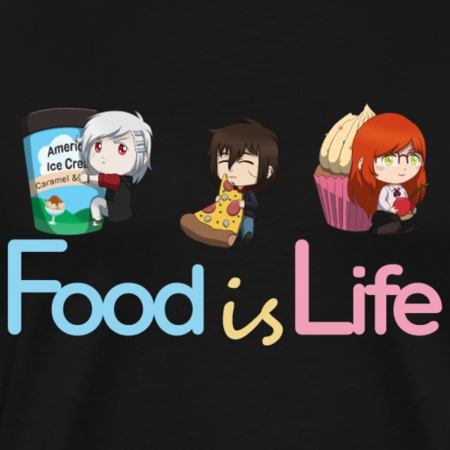 Food is Life - T-shirt Premium Homme