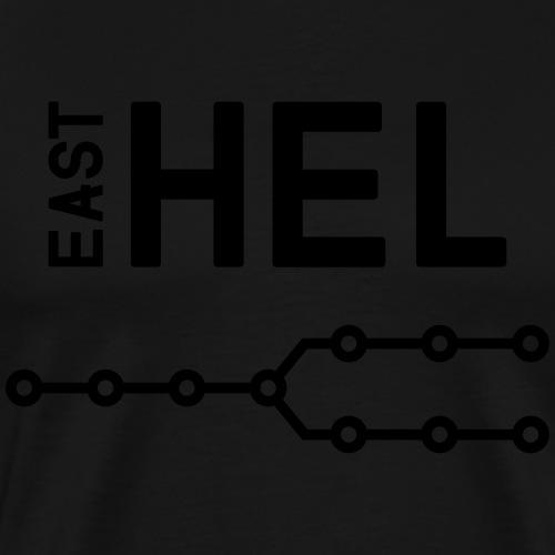 east-hel2 - Miesten premium t-paita