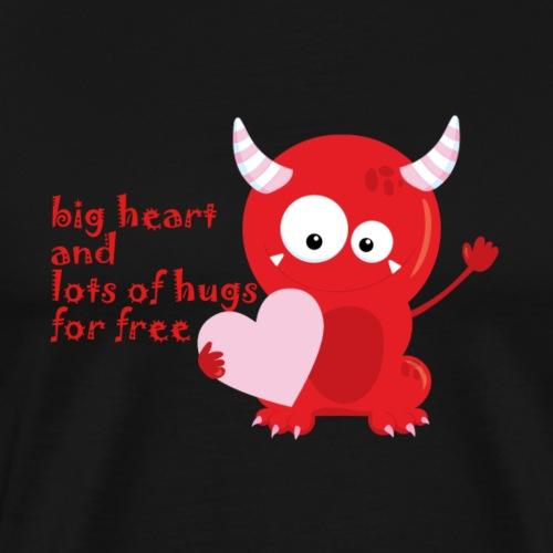 süsses Monster mit Herz big heart and lots of hugs - Männer Premium T-Shirt