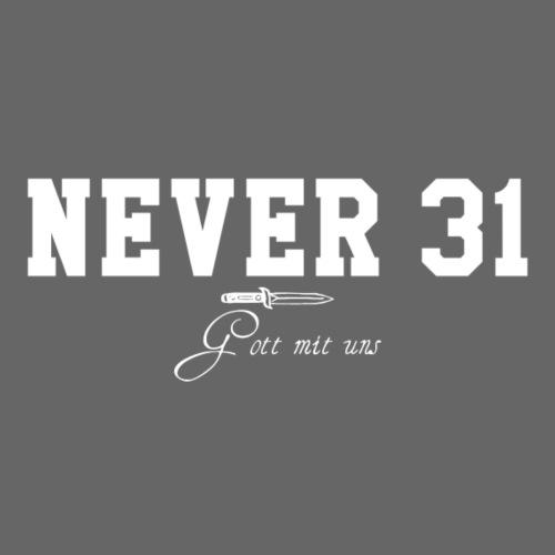 NEVER 31 Logo weiss - Männer Premium T-Shirt