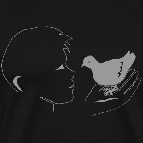 Pigeon garçon Drôle amour animalier oiseau cadeau - T-shirt Premium Homme