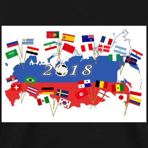Nationen der WM - Männer Premium T-Shirt
