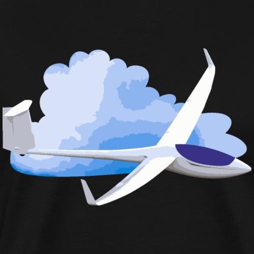 Segelflugzeug mit Wolke Geschenkidee - Männer Premium T-Shirt