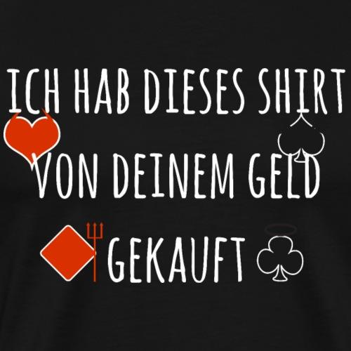 Poker Texas Holdem Spielkarten Shirt Geschenk - Männer Premium T-Shirt