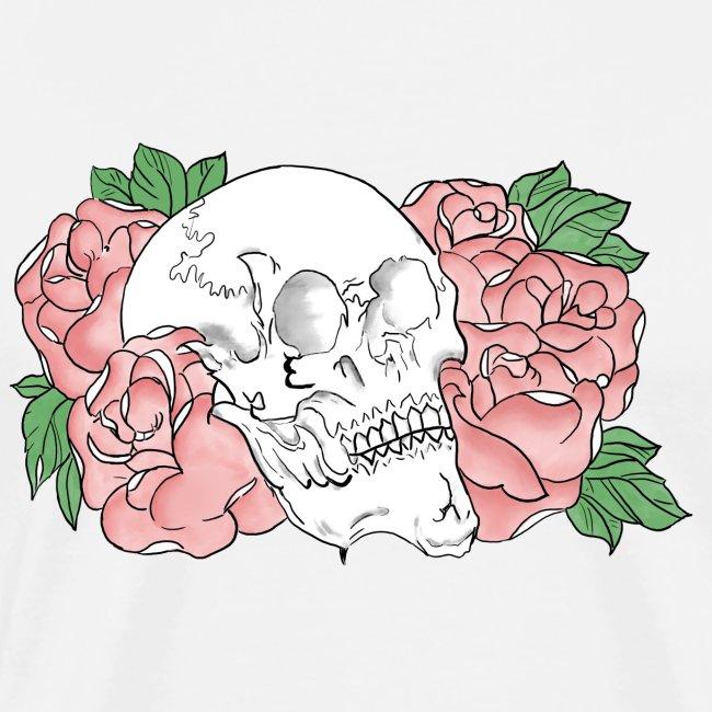 skull et fleurs