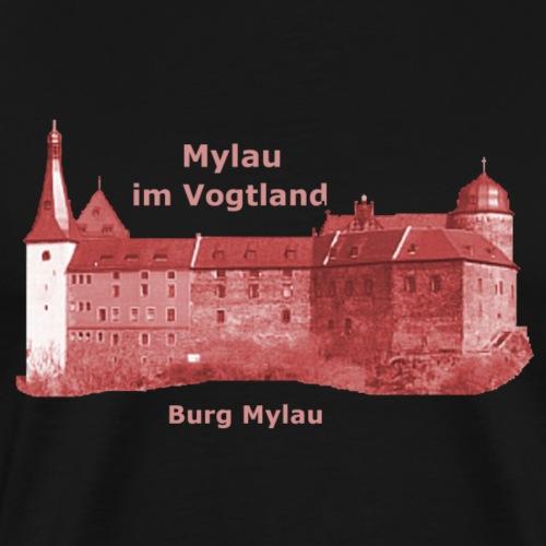 Mylau Vogtland Burg Kaiserschloss - Männer Premium T-Shirt
