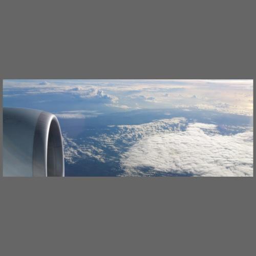 Flugzeug Himmel Wolken Australien - Männer Premium T-Shirt